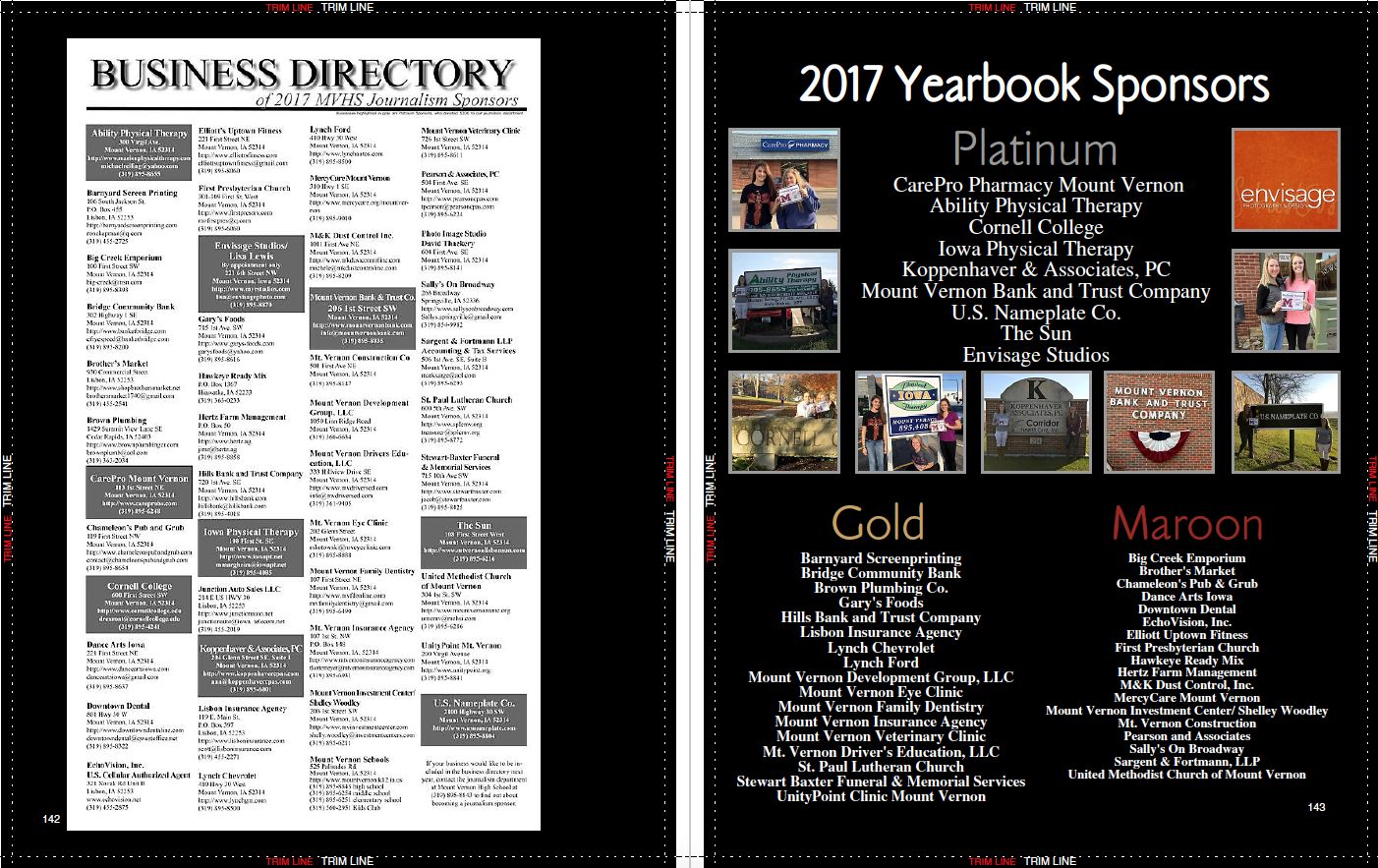 Yearbook of the year 2017 ihspa third place advertising the centaur mount vernon hs ads malvernweather Gallery